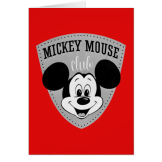 Vintage Mickey Mouse Club Card
