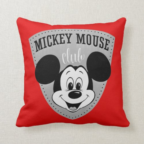Vintage Mickey Mouse Club Throw Pillow