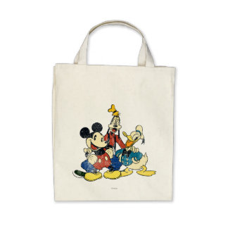 Vintage Mickey Mouse Friends 2 Tote Bags