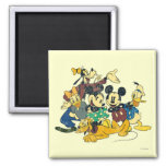 Vintage Mickey Mouse & Friends Refrigerator Magnet