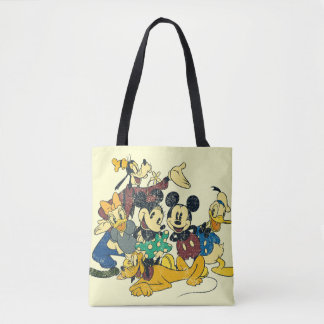Vintage Mickey Mouse & Friends Tote Bag