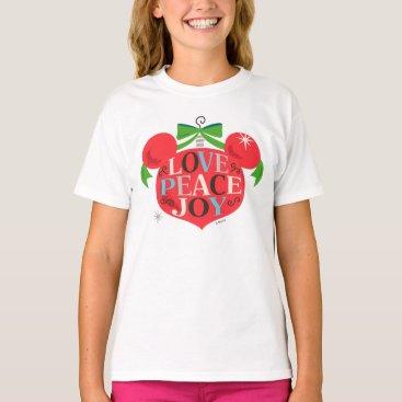 Disney Themed Vintage Mickey Mouse | Love, Peace & Joy T-Shirt