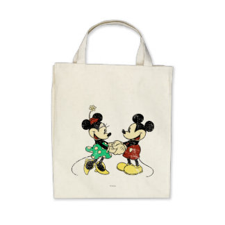 Vintage Mickey Mouse & Minnie Canvas Bags