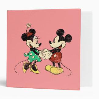 Vintage Mickey Mouse Minnie Vinyl Binder