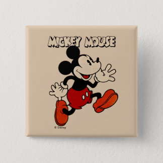 Vintage Mickey Mouse Pinback Button