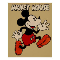 Vintage Mickey Mouse Poster