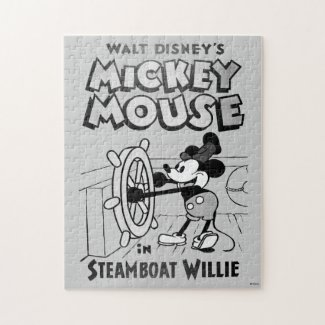 Vintage Mickey Mouse Steamboat Willie Jigsaw Puzzle