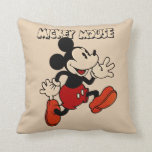 "Vintage Mickey Mouse Throw Pillow<br><div class=""desc"">Are you a die hard Mickey Mouse fan? Then you&#39;ve come to the right place! This classic Mickey design features the mouse himself.</div>"