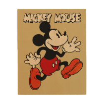 Vintage Mickey Mouse Wood Wall Decor