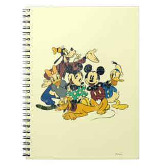 Vintage Mickey Mouse y amigos Libretas