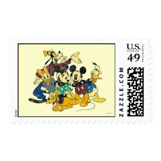 Vintage Mickey Mouse y amigos Timbres Postales