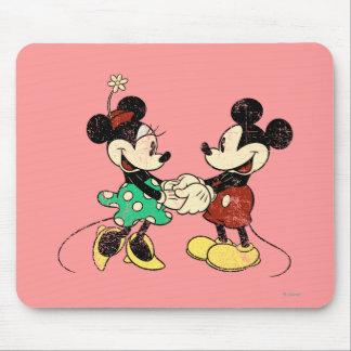 Vintage Mickey Mouse y Minnie Alfombrillas De Ratón