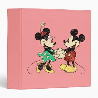 """Vintage Mickey Mouse y Minnie Carpeta 1 1/2"""""""