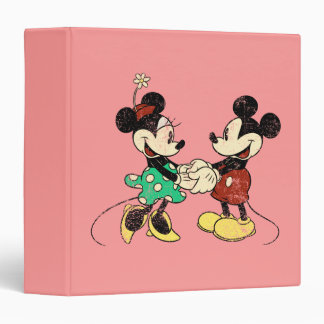 Vintage Mickey Mouse y Minnie Carpeta 1 1/2""