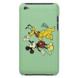 Vintage Mickey Mouse y Plutón iPod Case-Mate Protectores