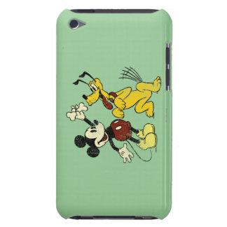Vintage Mickey Mouse y Plutón iPod Case-Mate Coberturas