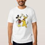 Vintage Mickey Mouse y Plutón Playera