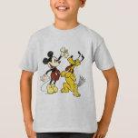 Vintage Mickey Mouse y Plutón Polera