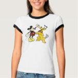 Vintage Mickey Mouse y Plutón Remeras