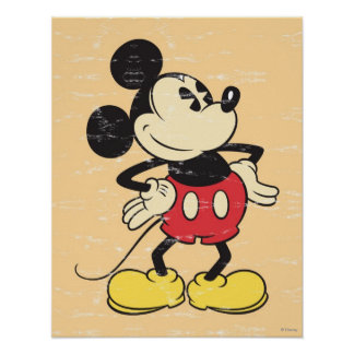 Vintage Mickey Poster