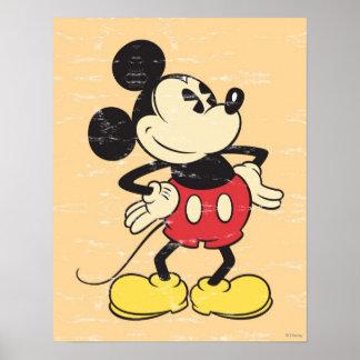 Vintage Mickey Póster