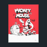 "Vintage Mickey Silly Insturments Canvas Print<br><div class=""desc"">Are you a die hard Mickey Mouse fan? Then you&#39;ve come to the right place! This vintage Mickey Mouse design features Mickey and his silly symphony of insturments!</div>"