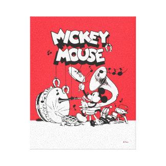 Vintage Mickey Silly Insturments Canvas Print