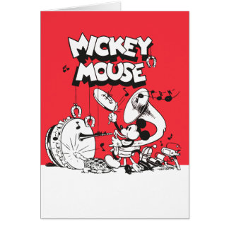 Vintage Mickey Silly Insturments Card
