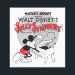 "Vintage Mickey Silly Symphony Canvas Print<br><div class=""desc"">Are you a die hard Mickey Mouse fan? Then you&#39;ve come to the right place! This vintage Mickey Mouse design features Mickey and his silly symphony.</div>"