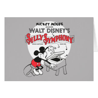 Vintage Mickey Silly Symphony Card