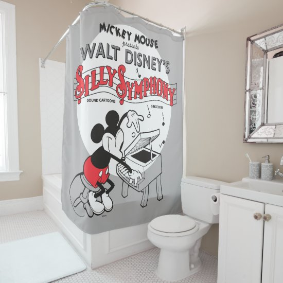 Vintage Mickey Silly Symphony Shower Curtain