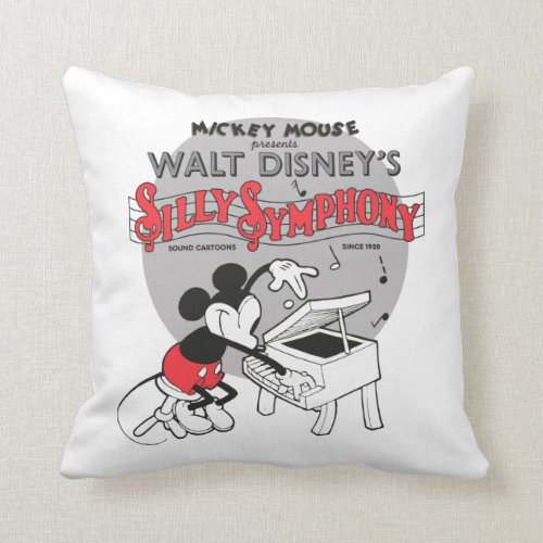 Vintage Mickey Silly Symphony Throw Pillow