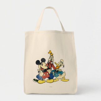 Vintage Mickey, torpe, Donald de Mickey y de los Bolsa Tela Para La Compra
