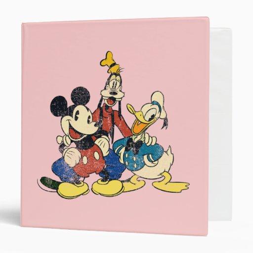 """Vintage Mickey, torpe, Donald de Mickey y de los Carpeta 1 1/2"""""""