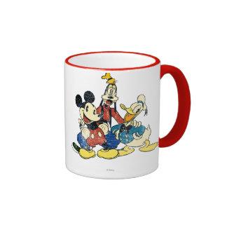 Vintage Mickey, torpe, Donald de Mickey y de los Taza De Dos Colores