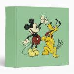 """Vintage Mickey y Plutón de Mickey y de los amigos Carpeta 1 1/2"""""""