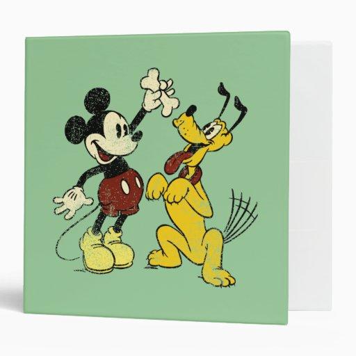 """Vintage Mickey y Plutón de Mickey y de los amigos Carpeta 2"""""""