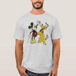 Vintage Mickey y Plutón de Mickey y de los amigos Playera