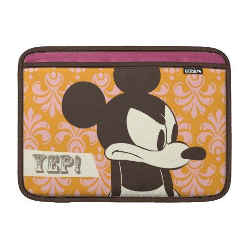 ¡Vintage Mickey - Yep! Funda Para Macbook Air