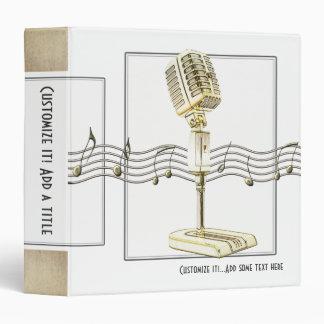 """Vintage Microphone 1.5"""" Avery Binder"""