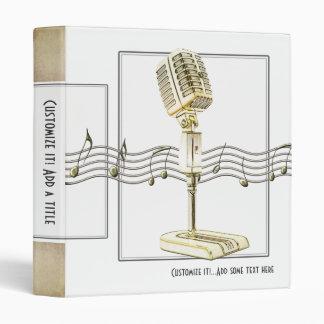 """Vintage Microphone 1"""" Avery Binder"""