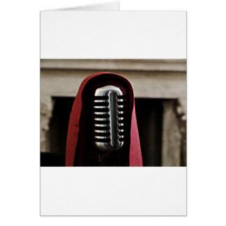 Vintage microphone cloak card