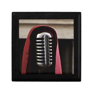 Vintage microphone cloak gift box