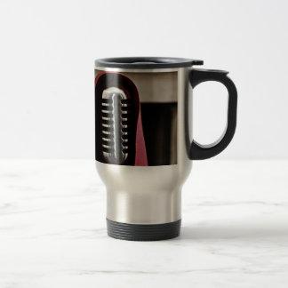 Vintage microphone cloak travel mug