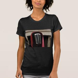 Vintage microphone cloak tshirt