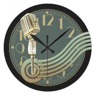Vintage Microphone Clock