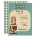 Vintage Microphone Custom Party Invitations