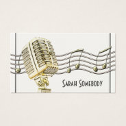 Vintage Microphone Design Business Card at Zazzle
