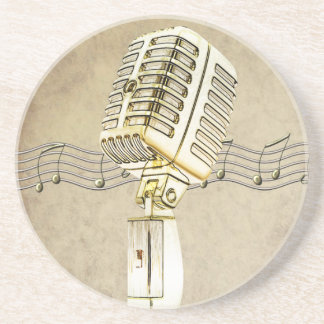 Vintage Microphone Design Coaster