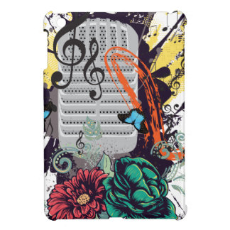 Vintage Microphone Grunge 3 Cover For The iPad Mini